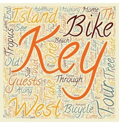 Key West Bike Tour Island Adventure text vector