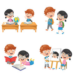 Kids are back to school vector