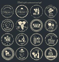 label set for restaurant and cafe 2 vector image