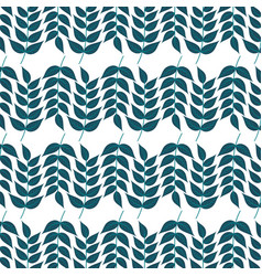 leaves branch botanical foliage seamless pattern vector image