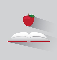 Logo book and apple vector