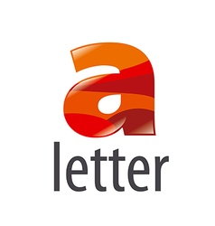 Logo colored letter a with highlights vector