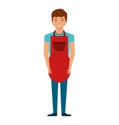 man with apron character vector image