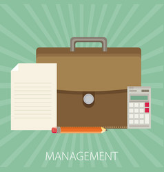 Management flat design concept vector