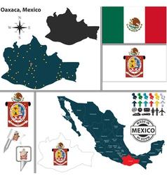 Map of Oaxaca vector image