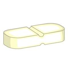 Medicine pill icon cartoon style vector image