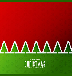 Merry christmas background with tree in paper cut vector