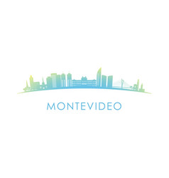 Montevideo skyline silhouette design colorful vector
