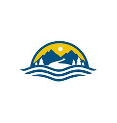 Mountain logo icons template vector