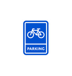 parking bicycle roadsign isolated vector image