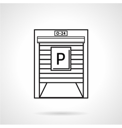 Parking garage black line icon vector image