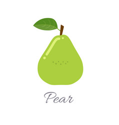 Pear icon with title vector
