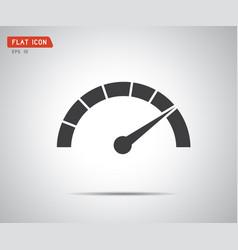 Performance measurement logo speed icon vector