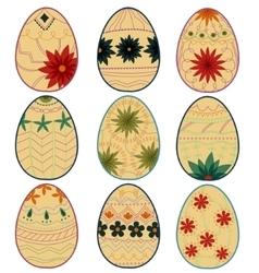Retro easter eggs vector image