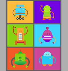 Robots and frames collection vector