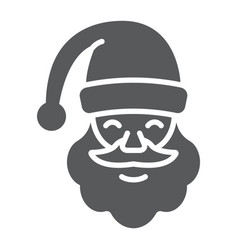 santa claus glyph icon christmas and character vector image