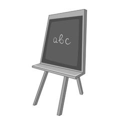 School board icon gray monochrome style vector image