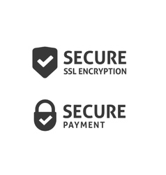 Secure connection icon secured ssl shield vector