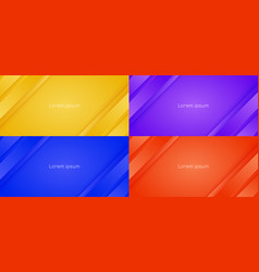 set abstract background yellow purple blue vector image
