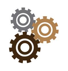Set gears mechanical team work concept vector