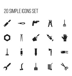 Set of 20 editable instrument icons includes vector