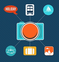 Set of flat design concept icons for holiday and vector