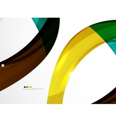 Shiny wave modern motion template vector image
