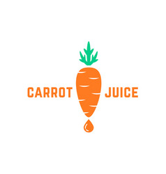 simple carrot juice logo vector image