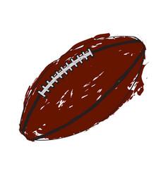 Sketch of a football ball vector