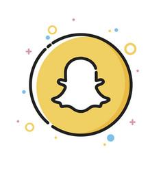 Social media network cute ghost icon design vector