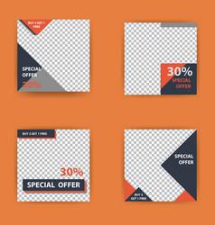 Social media pack business presentation template vector