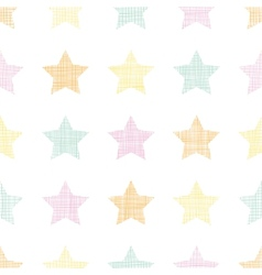 Stars textile textured pastel seamless pattern vector