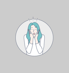 surprised girl concept vector image