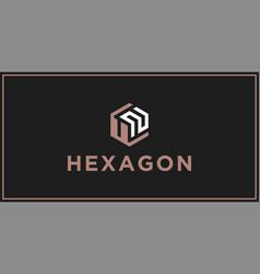 Un hexagon logo design inspiration vector