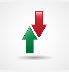 Up and down arrows icon vector