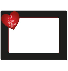Valentines day photo frame vector