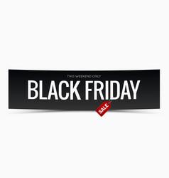Black friday sale banner design background vector
