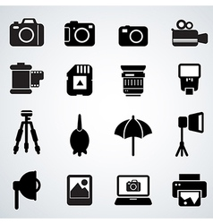 camera accessories vector image