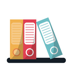 folder document archive folio office vector image