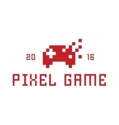 Pixel game joystick as a flat vector image
