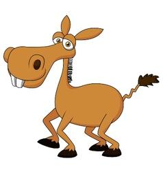 Cute donkey cartoon vector image