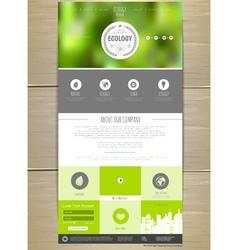Ecology concept web site design vector