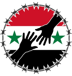Humanitarian disaster in syria vector
