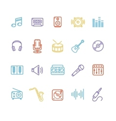 Music Icon Colorful Set vector image vector image
