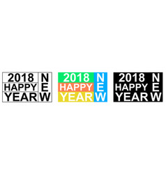 2018 happy new year greeting banner vector image