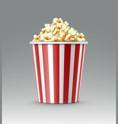 bucket of popcorn vector image vector image