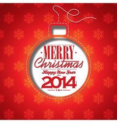 Christmas with abstract ball vector image