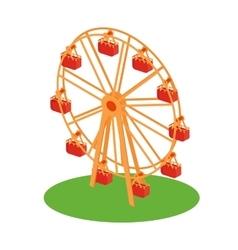 Ferris Wheel Attraction vector image