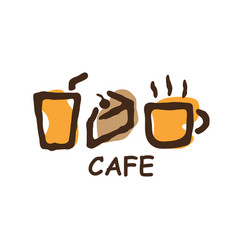 cafe bakery element logo vector image