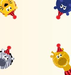 cute safari animals vector image